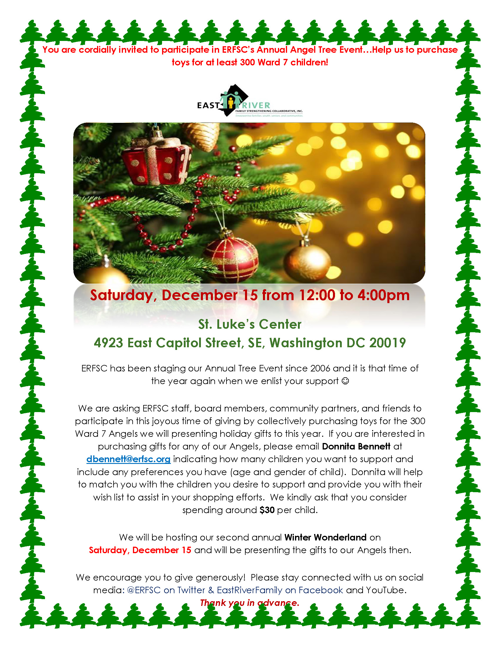 Annual Angel Tree Event – East River Family Strengthening Collaborative